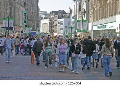 Shoppers in Liverpool England
