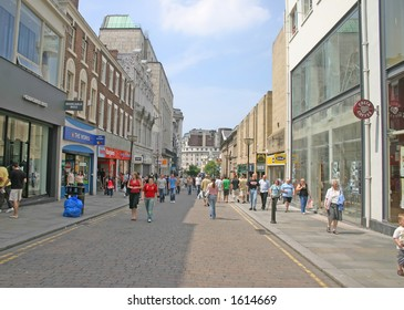 Shoppers in Liverpool England UK
