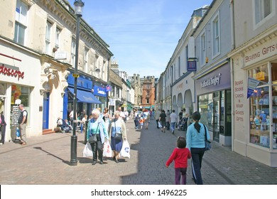 Shoppers and Tourists in Ayr Scotland UK