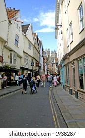 Shoppers and Tourists in York England