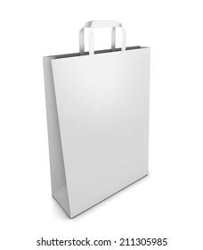 Shopping bag. 3d illustration isolated on white background