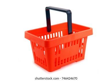 shopping basket isolated on white
