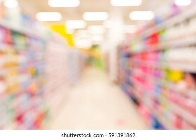 Shopping blur in the supermarket