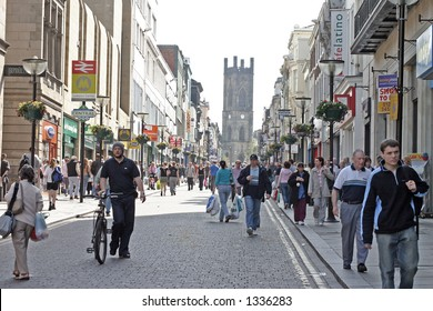 Shopping in Bold Street Liverpool UK