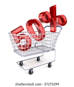 Shopping cart with 50%