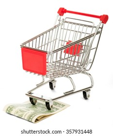 Shopping cart with cash