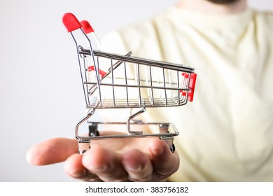 Shopping cart in the hand