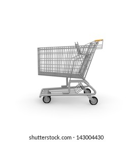 A shopping cart is handy if you want to buy a lot.