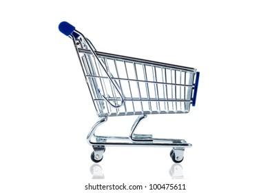 shopping cart isolate on white background