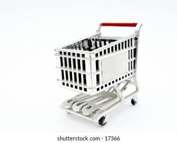 Shopping Cart, isolated on white background