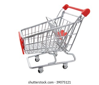 A shopping cart isolated on a white background
