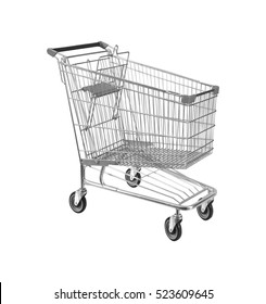 Shopping cart, isolated on white
