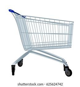 Shopping cart isolated on white background. shopping basket.