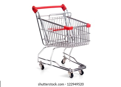 shopping cart isolated in white