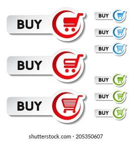 shopping cart item, trolley, buy button
