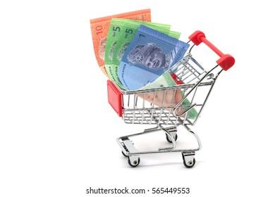 shopping cart and Malaysian ringgit