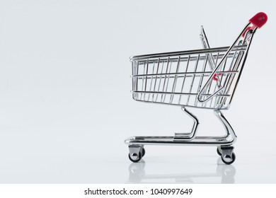 Shopping cart model isolated