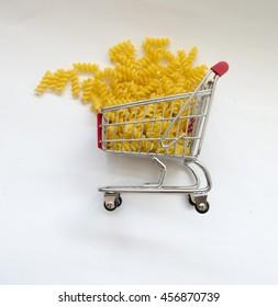 Shopping cart pasta
