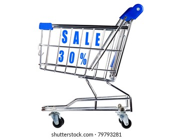 Shopping cart with sale 30%