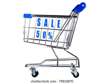 Shopping cart with sale 50%