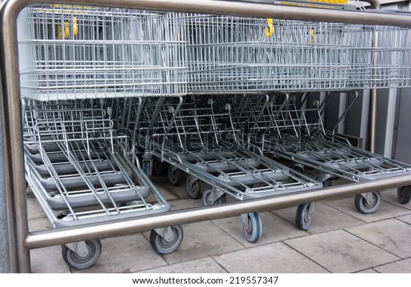 shopping cart. shopping trolley, shopping, business