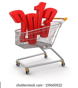 Shopping Carts and 2013 (clipping path included)