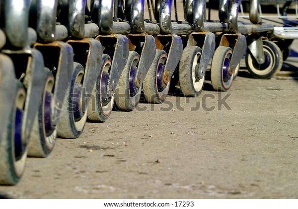 Shopping carts detail.
