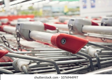 Shopping carts, grocery carts are unlikely in the store, shopping center