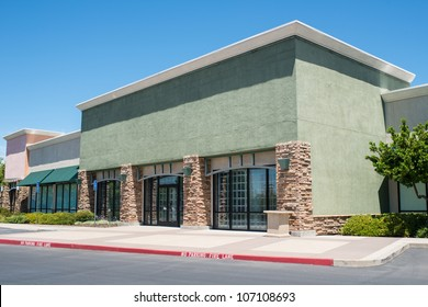 Strip shopping center design