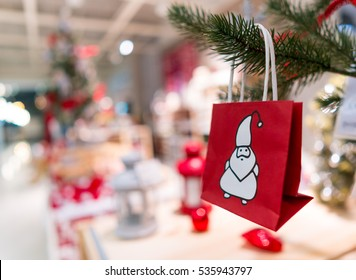 Shopping in Christmas time