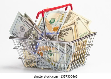shopping concept with dollars