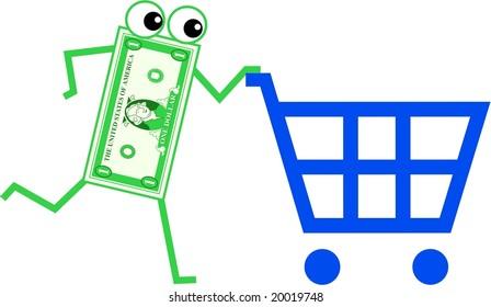 shopping dollar