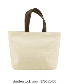 Shopping eco bag isolated on a white background