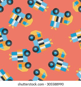 shopping freight transport flat icon,eps10 seamless pattern background