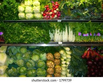 Shopping for fresh veges