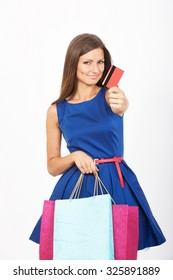 Shopping girl with a credit card
