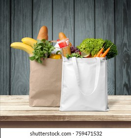 Shopping, groceries, bags.