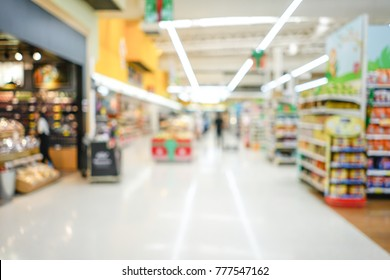 Shopping mall or department store with blurred background and bokeh light