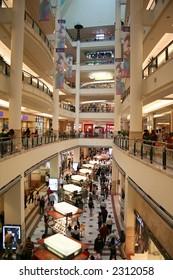 A shopping mall in Kuala Lumpur, Malaysia.