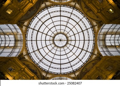 Shopping mall roof in Milan, Italy