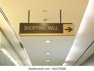 shopping mall sign board in indoor