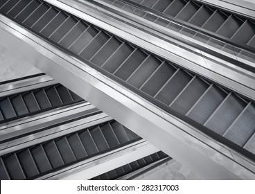 Shopping malls escalator