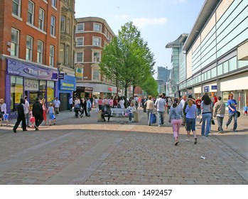 Shopping in Manchester England UK