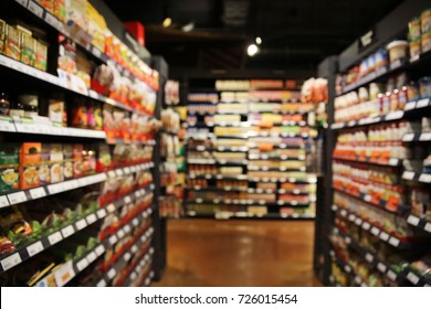 shopping market on blur background
