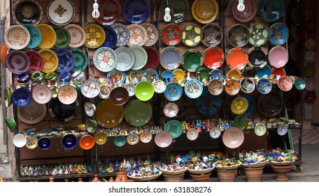 Shopping in oriental markets, fragrant and colorful