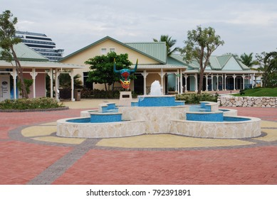 Shopping pavilion in Grand Turk in teh Caribbean sea,
