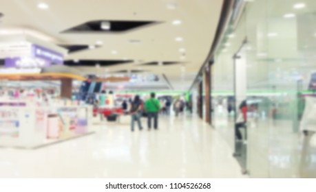 shopping people crowd at marketplace shoe shop abstract background