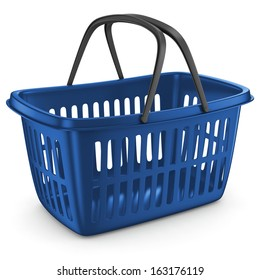 Shopping Plastic Basket Blue