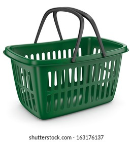Shopping Plastic Basket Green