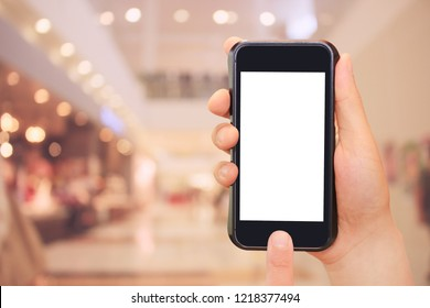 shopping, sale, smartphone and shopping mall